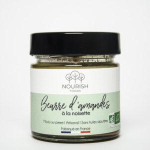 Nourish Foods, Beurre d'amandes à la noisette Bio Artisanal, sans huiles ajoutées, sans huile de palme, sans conversateurs, sans sucres raffinés